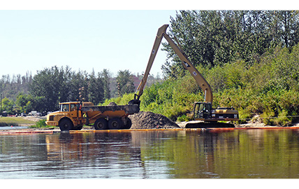 Hatfield Provides Construction Monitoring Services for Dredging of the Snye River