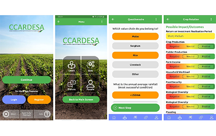 CCARDESA launches a climate smart agriculture mobile app for extension officers