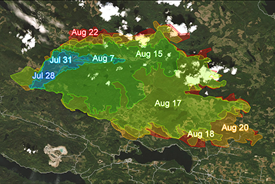 Earth Observation for Rapid Burned Area Mapping (R-BAM)